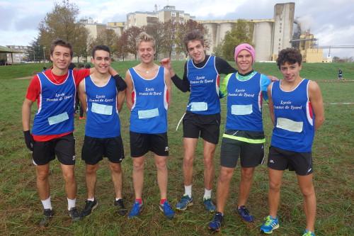 Championnat d'académie de cross à Dijon L'équipe mixte
