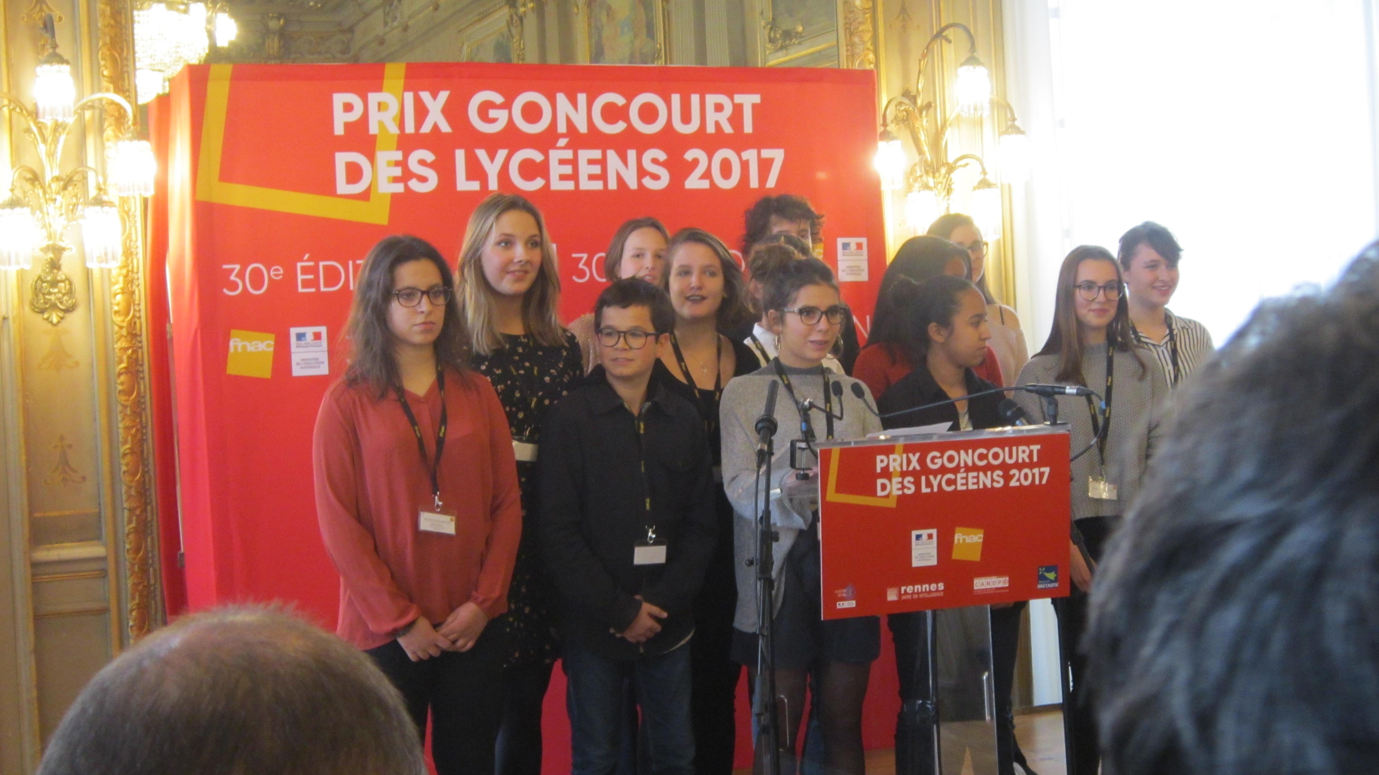 Proclamation du résultat à Rennes
