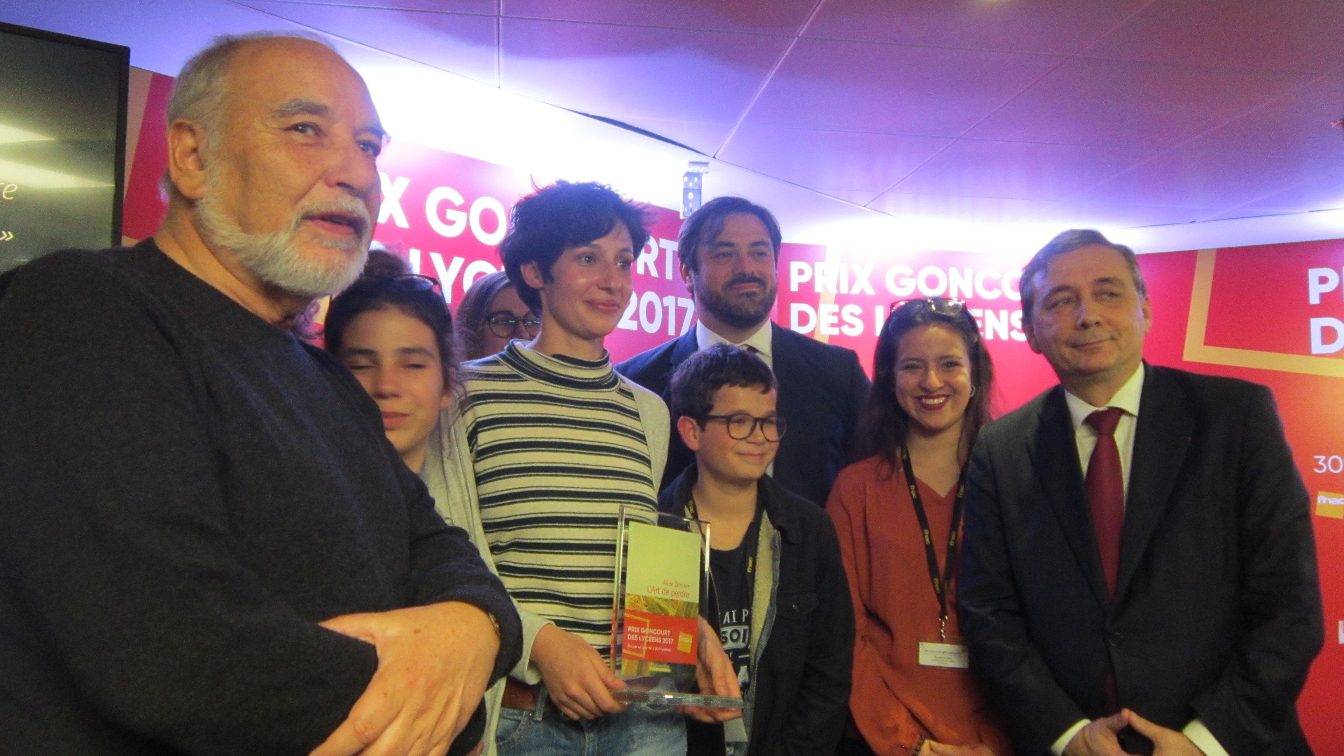 Tahar Ben Jelloun, Alice Zeniter, le PDG de la Fnac et le Recteur de Paris à la Fnac des Ternes à Paris