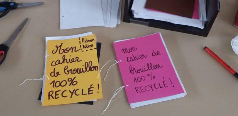 Cahiers de brouillon en papier recyclé!